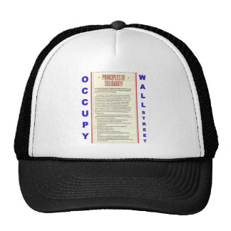 Occupy Wall Street Principles of Solidarity Trucker Hat