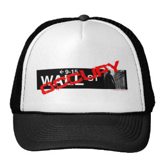 Occupy Wall Street Sign Trucker Hat