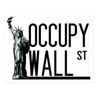 Occupy Wall Street -Statue of Liberty Postcard