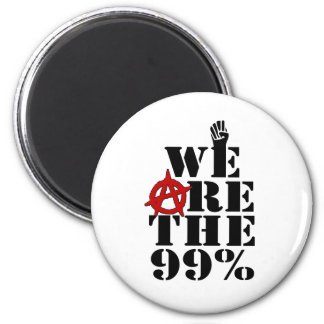 Occupy Wall Street We Are The 99% 2 Inch Round Magnet