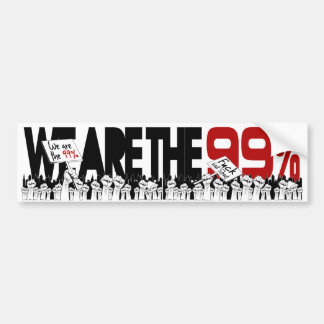 Occupy Wall Street - We are the 99% Bumper Sticker