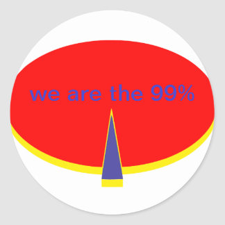 """""""occupy Wall Street we are the 99 percent"""" Round Sticker"""