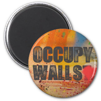 OCCUPY WALLS 2 INCH ROUND MAGNET