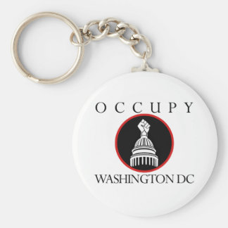 Occupy Washington DC Basic Round Button Keychain