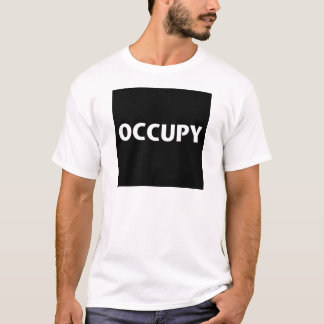 Occupy (White on Black) T-Shirt