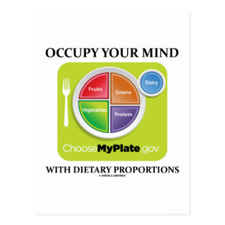 Occupy Your Mind With Dietary Proportions MyPlate Postcard