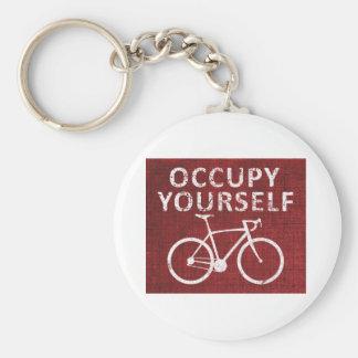 Occupy Yourself Basic Round Button Keychain