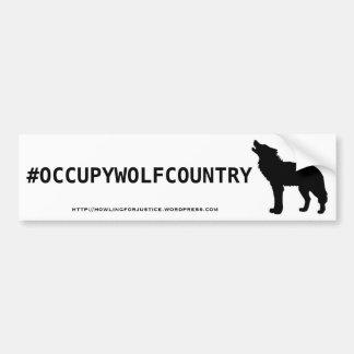 #OCCUPYWOLFCOUNTRY BUMPER STICKER