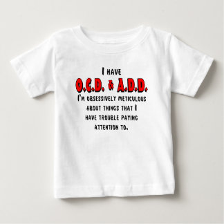 OCD-ADD Black/Red Baby T-Shirt