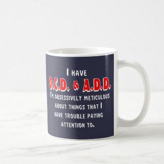 OCD-ADD White/Red Coffee Mug