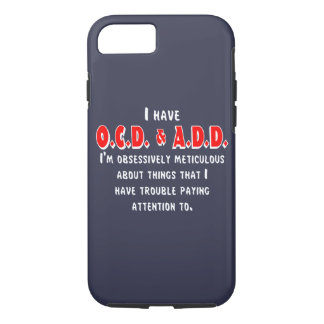 OCD-ADD White/Red iPhone 8/7 Case
