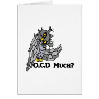OCD Much? Crazy Owl Card