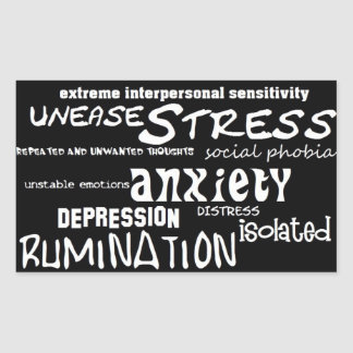 OCD Obsession Depression Social Anxiety Stickers
