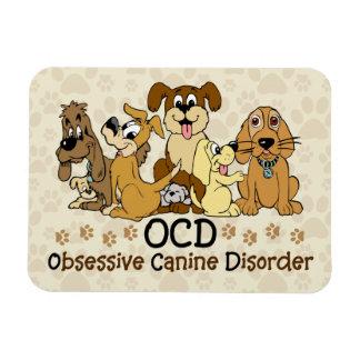 OCD Obsessive Canine Disorder Rectangular Photo Magnet