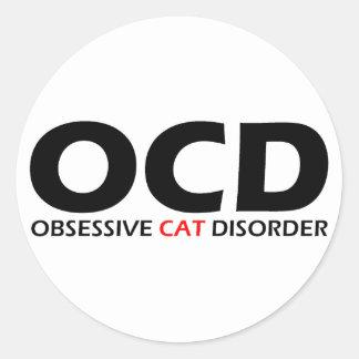 OCD - Obsessive Cat Disorder Classic Round Sticker
