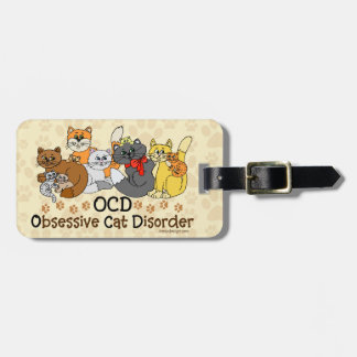 OCD Obsessive Cat Disorder Personalized Luggage Tag