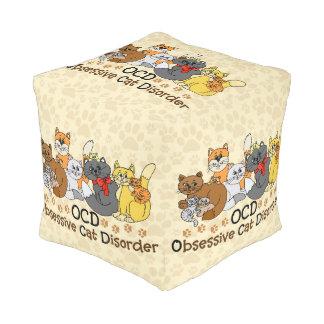 OCD Obsessive Cat Disorder Pouf