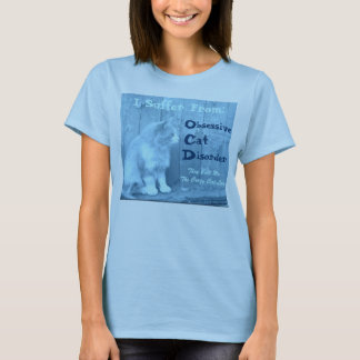 OCD: Obsessive Cat Disorder Shirt - Blue
