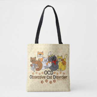 OCD Obsessive Cat Disorder Tote Bag