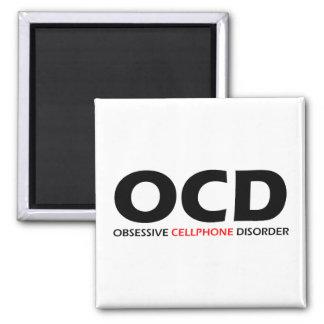 OCD - Obsessive Cellphone Disorder Fridge Magnet