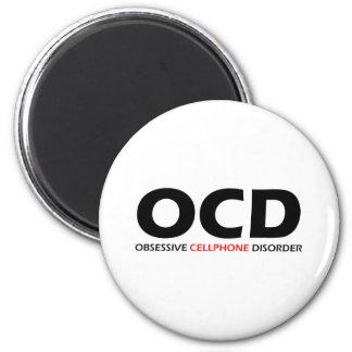 OCD - Obsessive  Cellphone Disorder Fridge Magnets