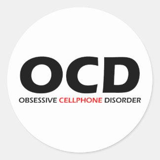 OCD - Obsessive  Cellphone Disorder Round Sticker