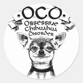 OCD obsessive chihuahua Classic Round Sticker