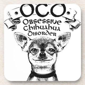 OCD obsessive chihuahua Coasters