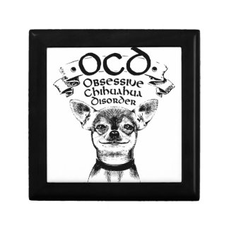 OCD obsessive chihuahua Jewelry Boxes