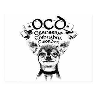 OCD obsessive chihuahua Postcard