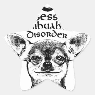 OCD obsessive chihuahua Star Sticker