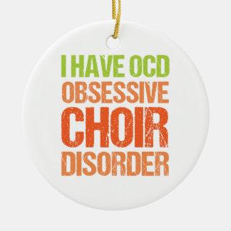 OCD - Obsessive Choir Disorder Round Ceramic Ornament