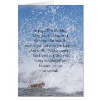 Ocean 100th Birthday Card