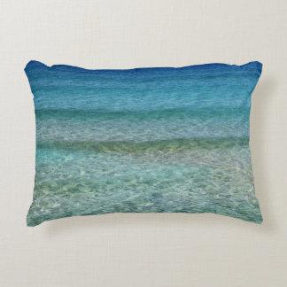 """Ocean Abstract Aqua Blue Accent Pillow 16"""" x 12"""""""