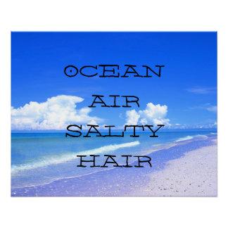 Ocean Air Salty Hair Perfect Poster