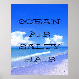 Ocean Air Salty Hair Posters