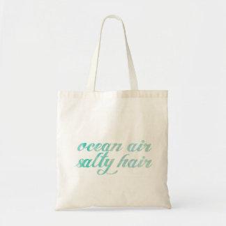 Ocean Air Salty Hair Summer Tote Canvas Bags
