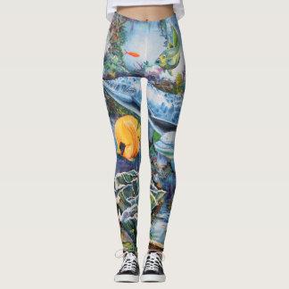 Ocean and Fish Mural Leggings
