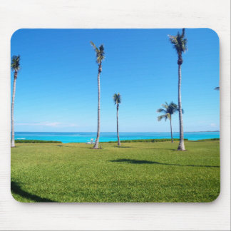 Ocean and Palm Landscape Mouse Pad
