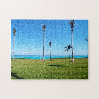 Ocean and Palm Landscape Puzzles