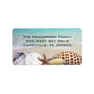 Ocean and Seashells Tropical Return Address Labels