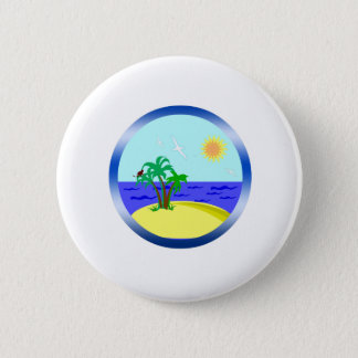 Ocean and sunlight 2 inch round button