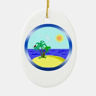 Ocean and sunlight ceramic ornament