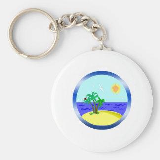 Ocean and sunlight keychain