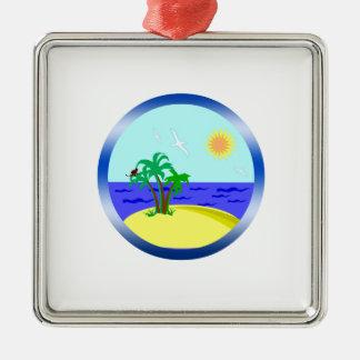 Ocean and sunlight metal ornament