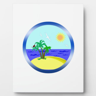 Ocean and sunlight plaque