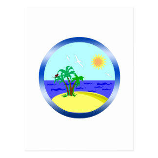 Ocean and sunlight postcard