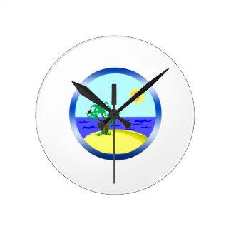 Ocean and sunlight round clock