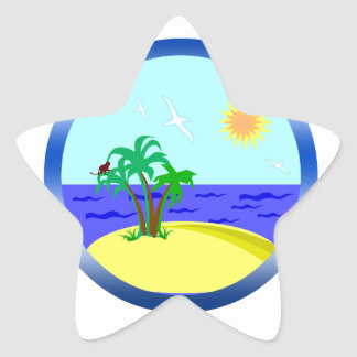 Ocean and sunlight star sticker