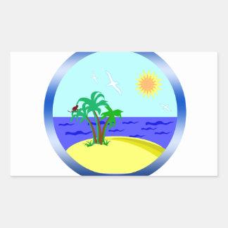 Ocean and sunlight sticker
